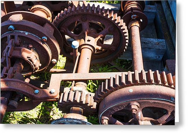 Rusty Gears Greeting Card by Donald  Erickson