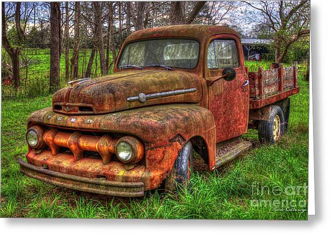 Rusty Gold 1951 Ford Flatbed Pickup Truck Art Greeting Card