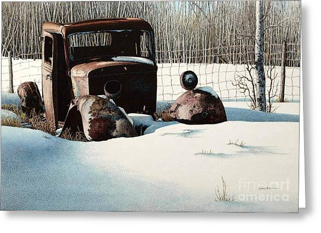 Rusty In Alberta Greeting Card by Robert Hinves