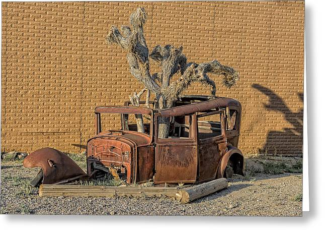 Rusty In The Desert Greeting Card