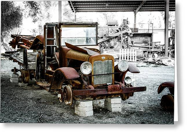 Rusty International Truck Greeting Card