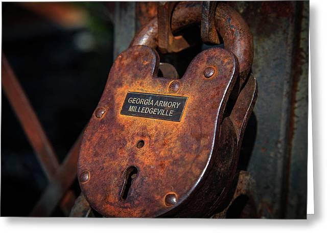 Rusty Lock Greeting Card