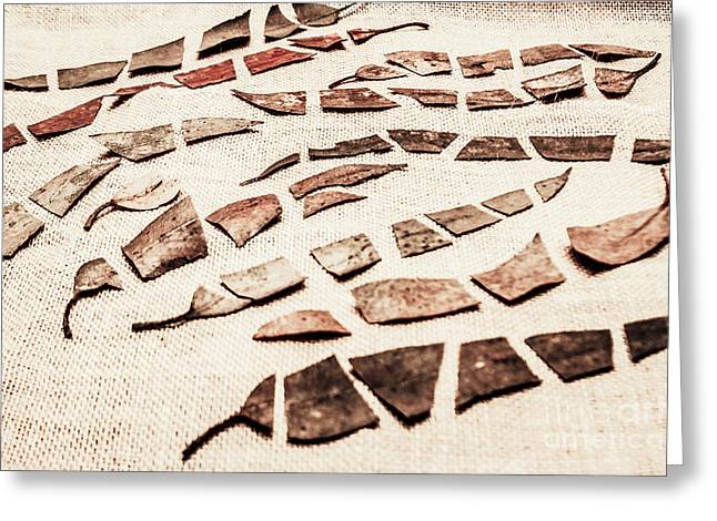 Rusty Metal Leaves Cut With Scissors Greeting Card by Jorgo Photography - Wall Art Gallery