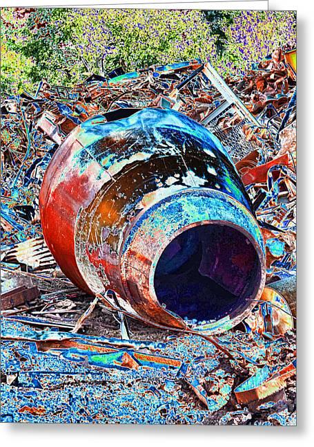 Rusty Metal Stuff II Greeting Card
