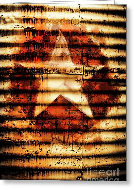 Rusty Military Star. Drums Of War Greeting Card by Jorgo Photography - Wall Art Gallery