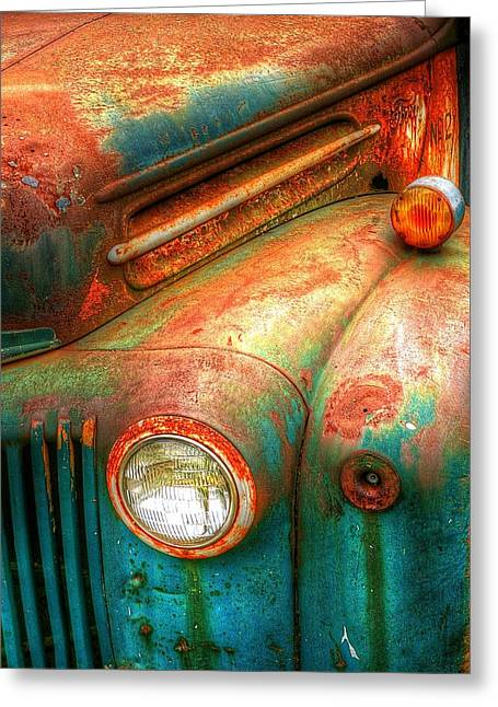 Rusty Old Ford Greeting Card