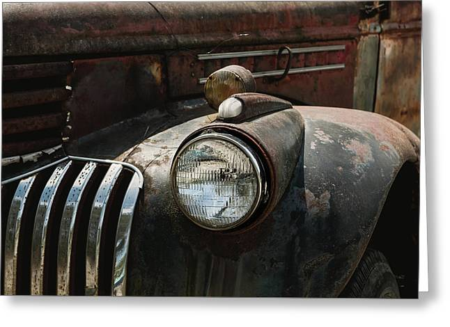 Greeting Card featuring the photograph Rusty Old Headlight  by Kim Hojnacki