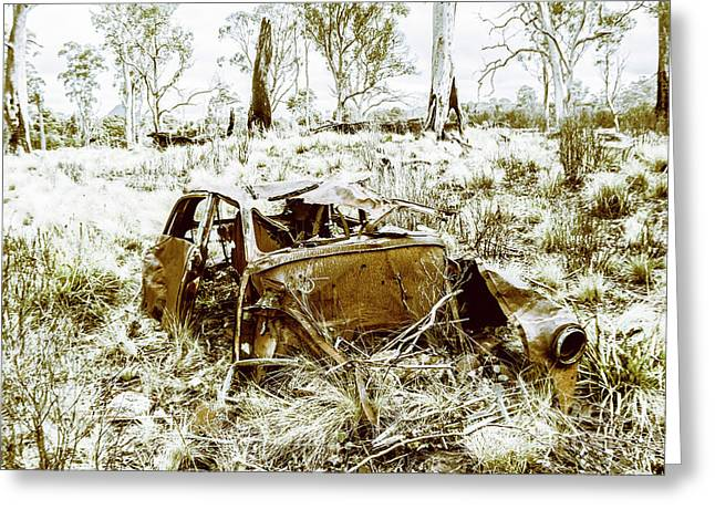 Rusty Old Holden Car Wreck  Greeting Card