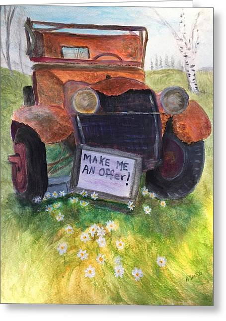 Rusty Old Relic Greeting Card