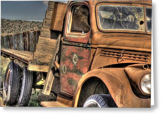 Rusty Old Truck Greeting Card by Peter Schumacher
