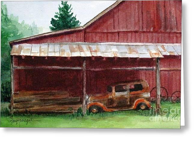 Rusty Ole Car Greeting Card by Suzanne Krueger