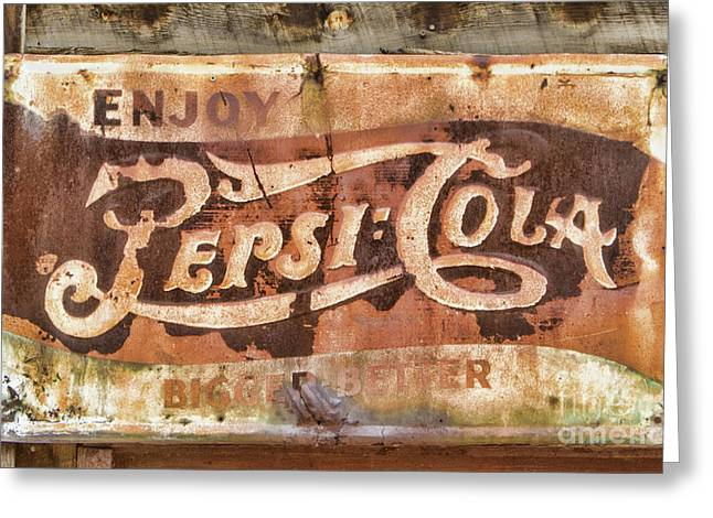 Rusty Pepsi Cola Greeting Card by Steven Parker