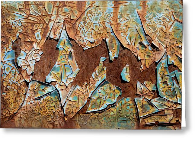 Rusty Pieces Greeting Card by Karol Livote