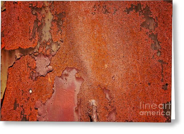 Rusty Red Metal Greeting Card