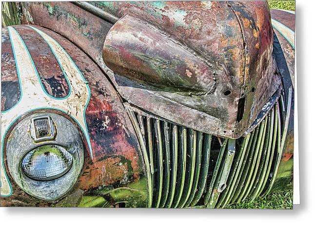 Rusty Road Warrior Greeting Card by David Lawson
