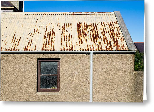 Rusty Roof Greeting Card by Tom Gowanlock