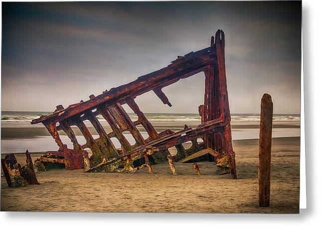 Rusty Shipwreck Greeting Card by Garry Gay