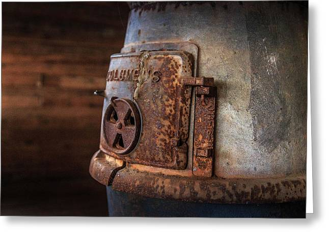 Rusty Stove Greeting Card