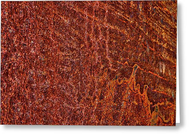 Rusty Tank Abstract Greeting Card by Stuart Litoff
