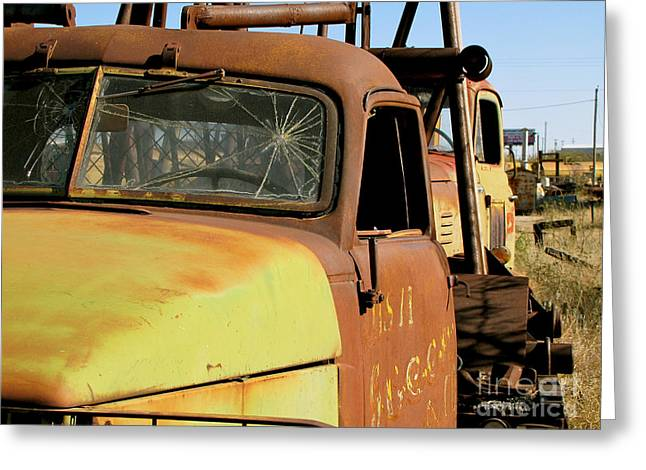 Rusty Tow Greeting Card by Slade Roberts