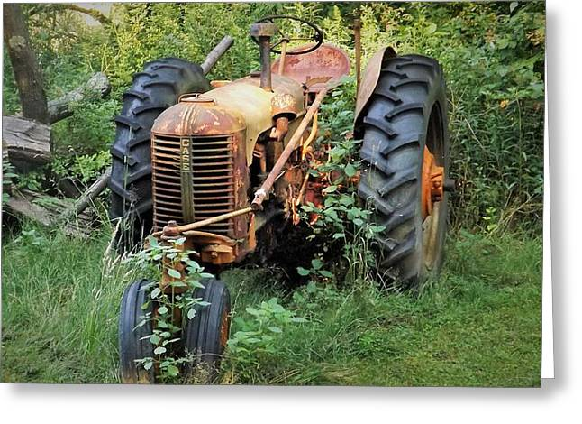 Rusty Tractor 3  Greeting Card