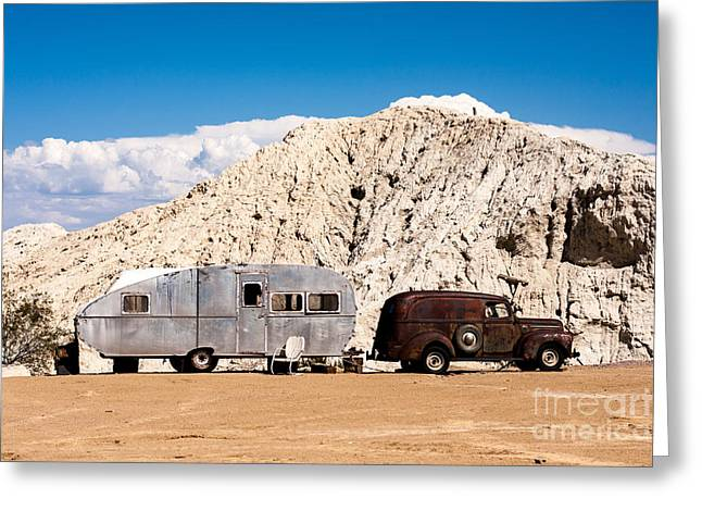 Rusty Truck And Aluminum Trailer Greeting Card