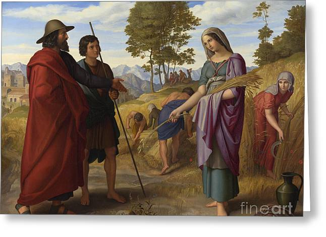 Ruth Im Feld Des Boaz Greeting Card by Celestial Images