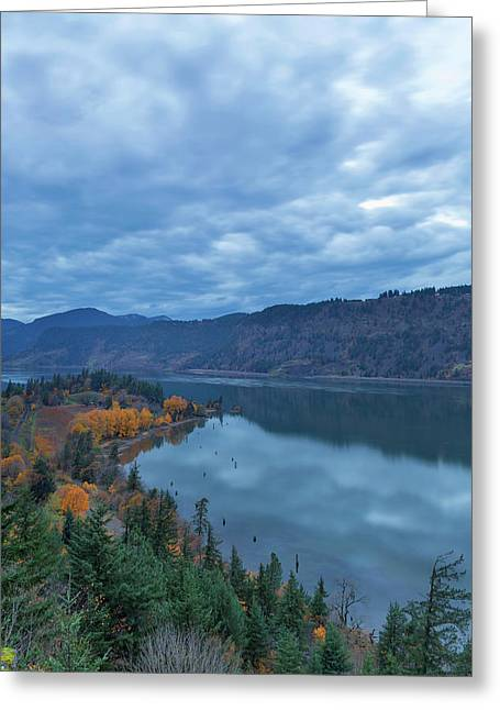 Ruthton Point During Evening Blue Hour Greeting Card