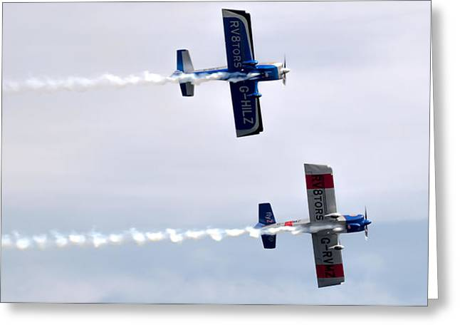 Greeting Card featuring the photograph Rv8tors Side By Side by Scott Lyons