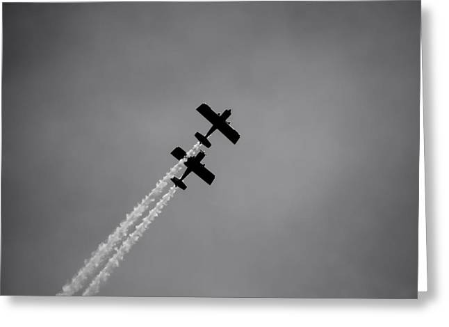 Greeting Card featuring the photograph Rv8tors Silhouette Sunderland Air Show 2014 by Scott Lyons