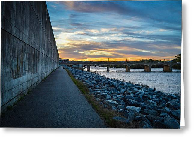Rva Flood Wall Greeting Card