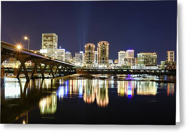 Rva Night Lights Greeting Card