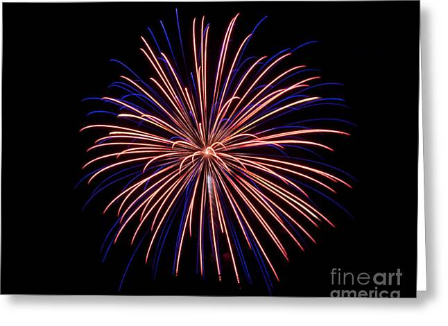 Rvr Fireworks 48 Greeting Card
