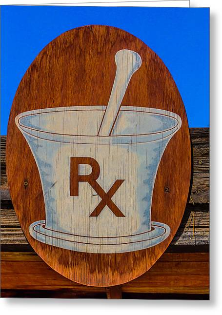 Rx Sign Greeting Card by Garry Gay