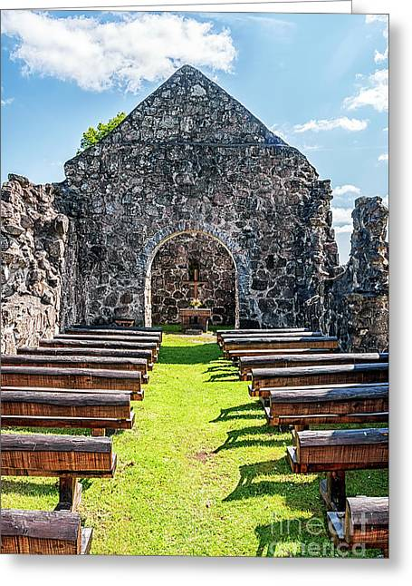 Rya Church Ruin In Skane Greeting Card