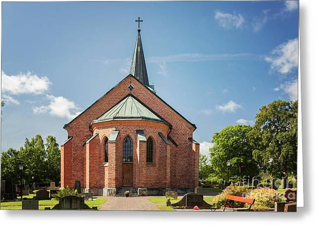 Rya Church Sweden Greeting Card