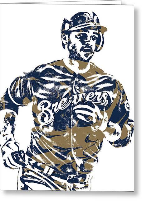 Ryan Braun Milwaukee Brewers Pixel Art 6 Greeting Card