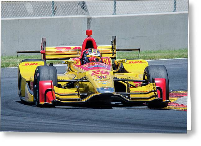 Ryan Hunter-reay Greeting Card by Steven Banker