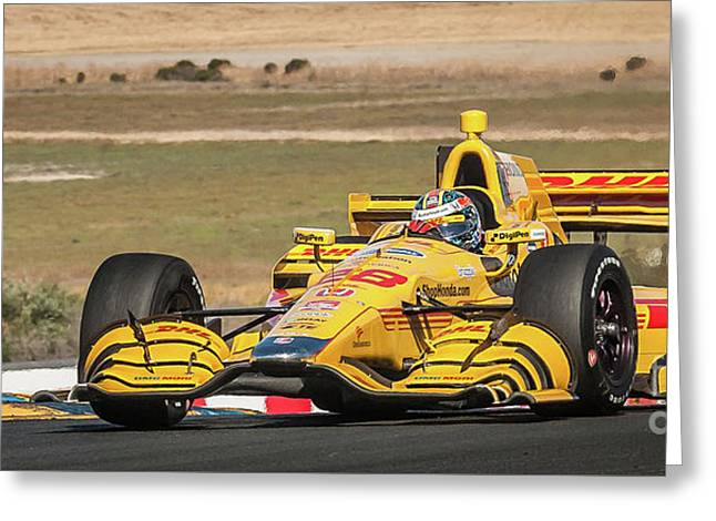 Ryan Hunter-reay Greeting Card by Webb Canepa