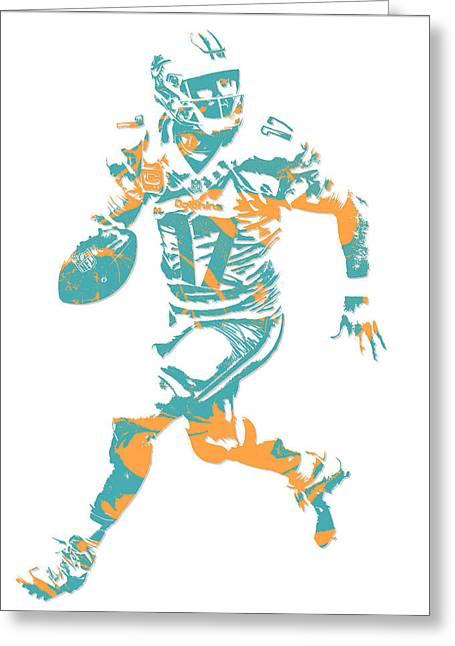 Ryan Tannehill Miami Dolphins Pixel Art 1 Greeting Card