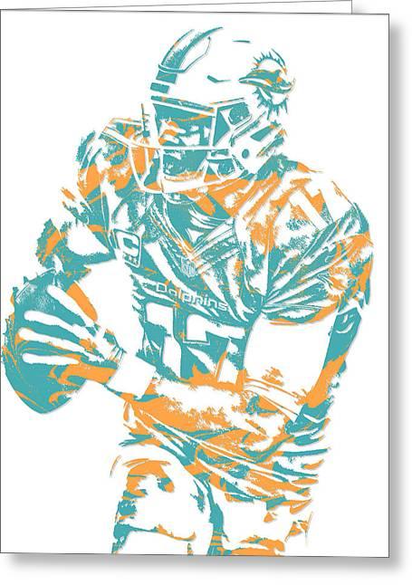 Ryan Tannehill Miami Dolphins Pixel Art 2 Greeting Card