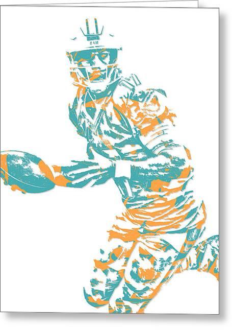 Ryan Tannehill Miami Dolphins Pixel Art 3 Greeting Card