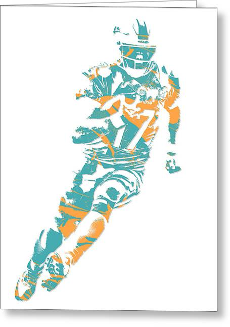 Ryan Tannehill Miami Dolphins Pixel Art 4 Greeting Card