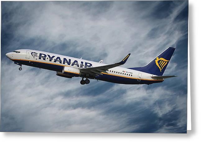 Ryanair Boeing 737 Greeting Card