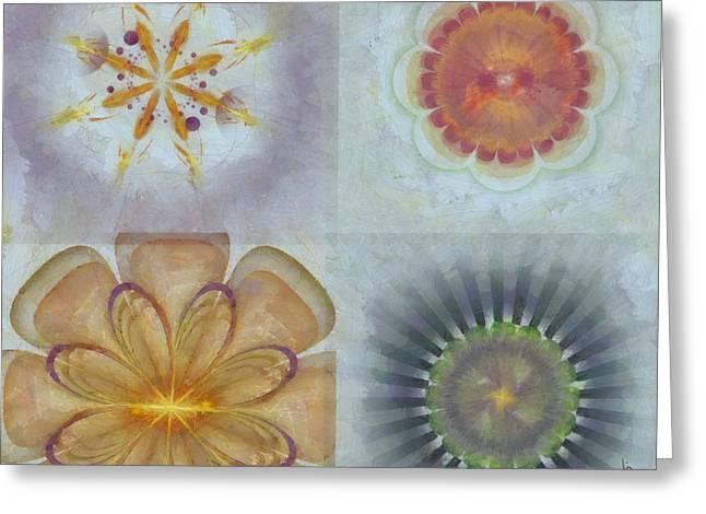 Ryas Exposed Flower  Id 16165-014626-86050 Greeting Card