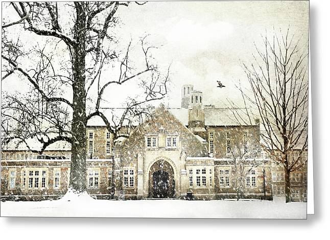 Rye High School Greeting Card by Diana Angstadt
