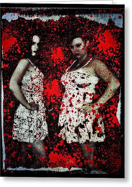 Ryli And Corinne 2 Greeting Card by Mark Baranowski