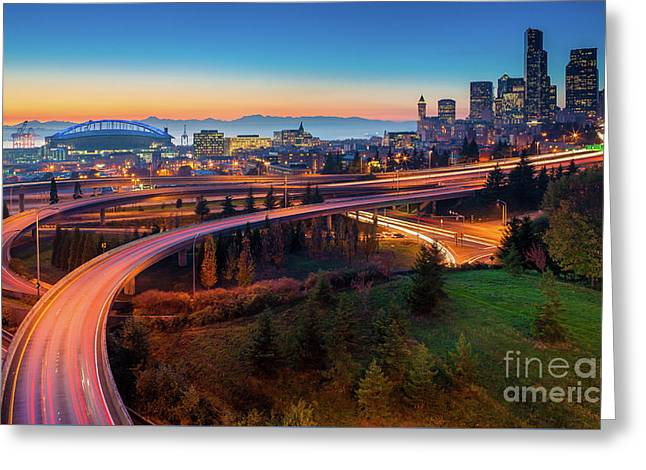 S For Seattle Greeting Card by Inge Johnsson
