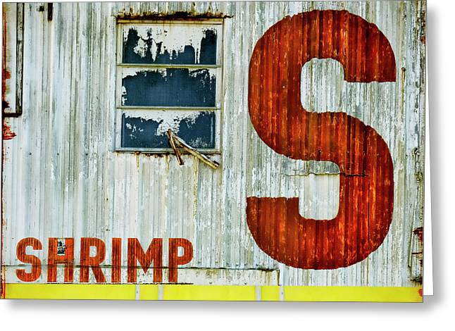 S Is For Shrimp  Greeting Card by Carol Leigh