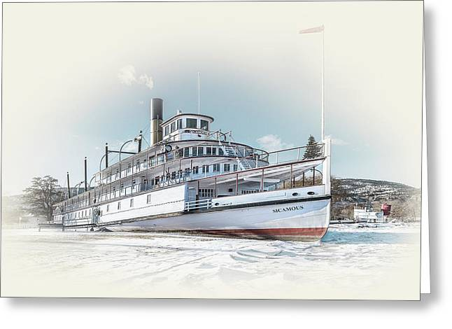 Greeting Card featuring the photograph S. S. Sicamous II by John Poon